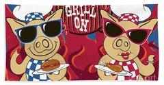 Barbecue Pigs Beach Sheet