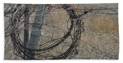 Barbed Wire Beach Towel
