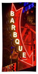 Beach Towel featuring the photograph Barbeque Smokehouse by Mark Andrew Thomas