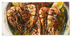 Barbequed Shrimp Beach Towel