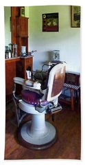 Barber - Old-fashioned Barber Chair Beach Sheet