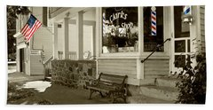 Clarks Barber Shop With Color Beach Sheet