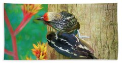 Barbet Nestlings Beach Towel