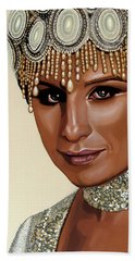 Barbra Streisand 2 Beach Towel by Paul Meijering
