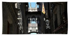 Beach Towel featuring the photograph Barcelona 1 by Andrew Fare