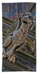 Barcelona Dragon Gargoyle Beach Towel by Henry Kowalski
