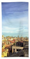 Beach Towel featuring the photograph Barcelona Rooftops by Colleen Kammerer
