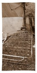 Beach Towel featuring the photograph Bare Bones Miners Camp by Marie Neder