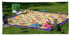 Barefoot In The Grass Beach Towel