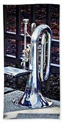 Baritone Horn Before Parade Beach Towel