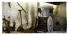 Beach Sheet featuring the photograph Barley Warehouse At Lockes Distillery by RicardMN Photography