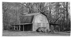 Beach Towel featuring the photograph Barn 2 by Mike McGlothlen