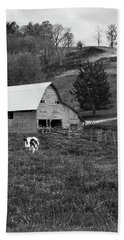 Beach Towel featuring the photograph Barn 4 by Mike McGlothlen