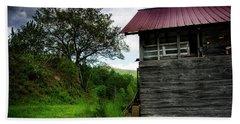 Barn After Rain Beach Towel by Greg Mimbs