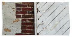 Barn Door Abstract Beach Sheet by Jani Freimann