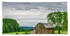 Beach Sheet featuring the photograph Barn In Bliss Township by Bill Gallagher