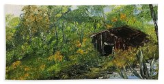 Barn In The Woods Beach Sheet