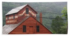 Beach Sheet featuring the photograph Barn In Vermont Along Amtrack by Donna Walsh