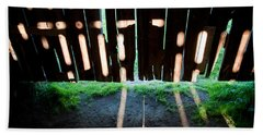 Barn Interior Shadows Beach Towel