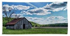 Beach Sheet featuring the photograph Barn On Cedar Creek Bottoms by Cricket Hackmann