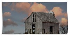 Barn On The Hill Beach Sheet by Kathy M Krause