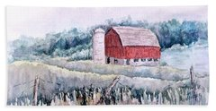 Barn On Weinman Road Beach Towel