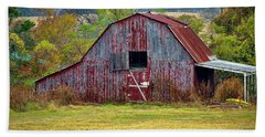 Barn On White Oak Road 2 Beach Sheet