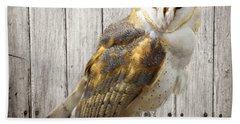 Barn Owl Beach Sheet by Kathy M Krause