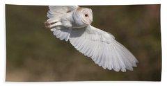 Barn Owl Wings Beach Towel