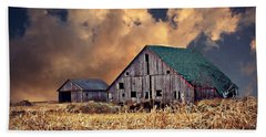 Barn Surrounded With Beauty Beach Towel