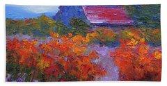 Barn Vineyard Autumn Beach Sheet