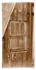 Barn Window - Sepia Beach Towel