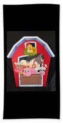 Barn With Animals Beach Towel