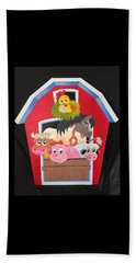 Barn With Animals Beach Sheet by Brenda Bonfield