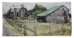 Barns And Old Shack In Norval Beach Towel