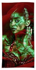Baroque Meets Oriental Rose Beach Towel