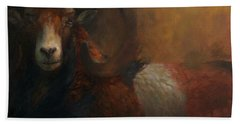 Baroque Mouflon Portrait Beach Towel