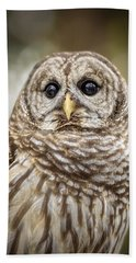 Beach Towel featuring the photograph Hoot by Steven Sparks
