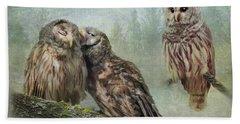 Barred Owls - Steal A Kiss Beach Towel