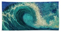Beach Sheet featuring the painting Barrel Wave by Darice Machel McGuire