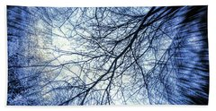 Barren Branches Beach Towel by Todd Breitling