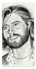 Barry Gibb Portrait Beach Towel