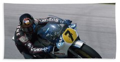 Barry Sheene. 1984 Nations Motorcycle Grand Prix Beach Towel