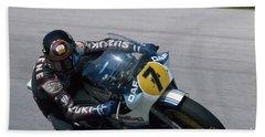 Barry Sheene. 1984 Nations Motorcycle Grand Prix Beach Sheet