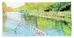 Barton Springs Sketch Beach Towel