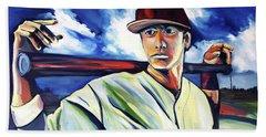 Baseball Crucifix Beach Sheet