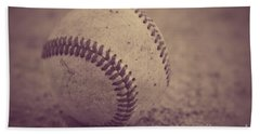 Baseball In Sepia Beach Towel