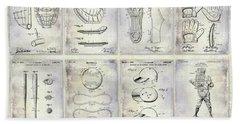 Baseball Patent History Beach Towel