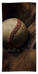 Baseball Yogi Berra Quote Beach Towel by Heather Applegate
