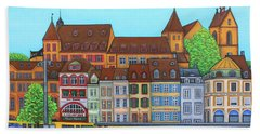 Basel, Barfusserplatz Rendez-vous Beach Towel